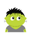 frankenstein monster cute cartoon funny spooky vector image vector image