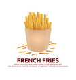 french fries banner fast food restaurant vector image vector image