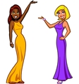 Game Show Hostesses vector image vector image