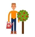 Garden harvest people character vector image