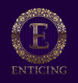golden logo template for enticing boutique vector image vector image