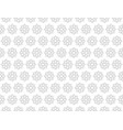 gray flower pattern seamless for backdrop vector image vector image
