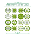 Green organic and bio labels vector image vector image