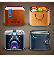 High detailed apps icons vector image vector image