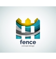house fence logo template vector image