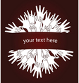 human hands invitation vector image vector image