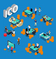 ico concept isometric composition vector image vector image