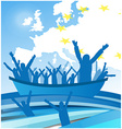 immigration people on the boat vector image vector image