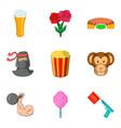 improvisation icons set cartoon style vector image vector image
