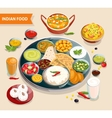 Indian Food Composition vector image