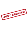 Just Arrived Text Rubber Stamp vector image vector image