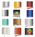 Kitchen equipment Refrigerators top view set 6 vector image