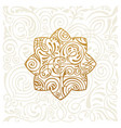 logo design floral round gold islam star vector image