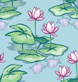 lotus seamless vector image vector image