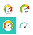 measure speed meter gauge or speedometer indicator vector image