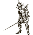 Medieval knight with sword vector image vector image