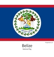 National flag of Belize with correct proportions vector image vector image