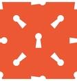 Orange keyhole pattern vector image vector image