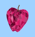 Polygon apple image vector image vector image