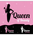 Queen of Beauty logo design vector image vector image