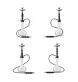 realistic 3d detailed white hookah with smoking vector image
