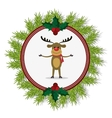 Reindeer of Christmas season design vector image