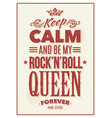 rock queen typography vector image vector image