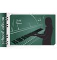 school album piano vector image vector image