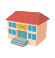School building icon cartoon style vector image vector image