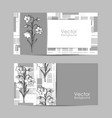 set banners with beautiful flowers vector image