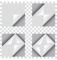set four curl papers vector image vector image
