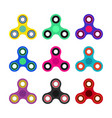 set of hand spinner toys in flat and cartoon style vector image vector image