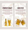 Set of vertical Beer Horizontal banners Good as a vector image vector image