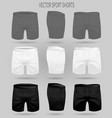 set white black and gray shorts briefs vector image vector image