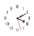 simple black and white watch seventeenth edition vector image vector image