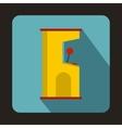 Slot machine icon flat style vector image vector image