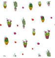 small print colorful cacti collection repeat vector image vector image