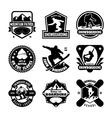 Snowboarding Badges vector image vector image