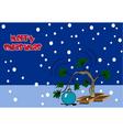 spirit of christmas tree vector image vector image