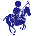 Sport icon for polo in blue vector image vector image