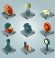 startup color gradient isometric icons vector image vector image