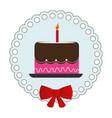 sweet cake celebration icon vector image vector image