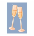 Two champagne glasses icon cartoon style vector image vector image
