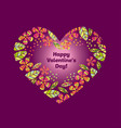 Valentine decorative element with heart and flower