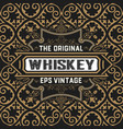 vintage whiskey card vector image vector image