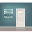 White Wooden Door vector image vector image