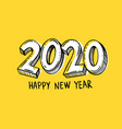 year 2020 hand written with marker vector image vector image