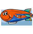 zeppelin airship cartoon vector image vector image