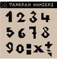 Tangram Numbers Black vector image