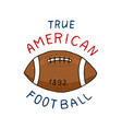 native american football game and sport college vector image